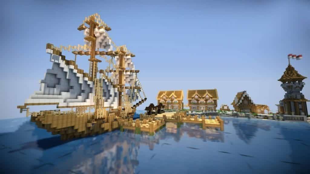 minecraft sea village
