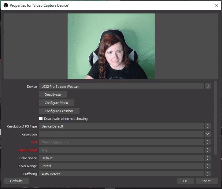 obs green screen settings