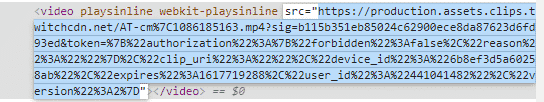 source code for a Twitch clip