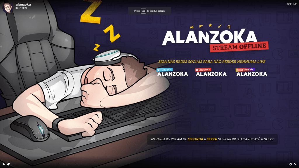 Alanzoka offline screen