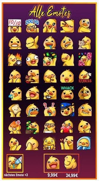 Annietheduck's emotes