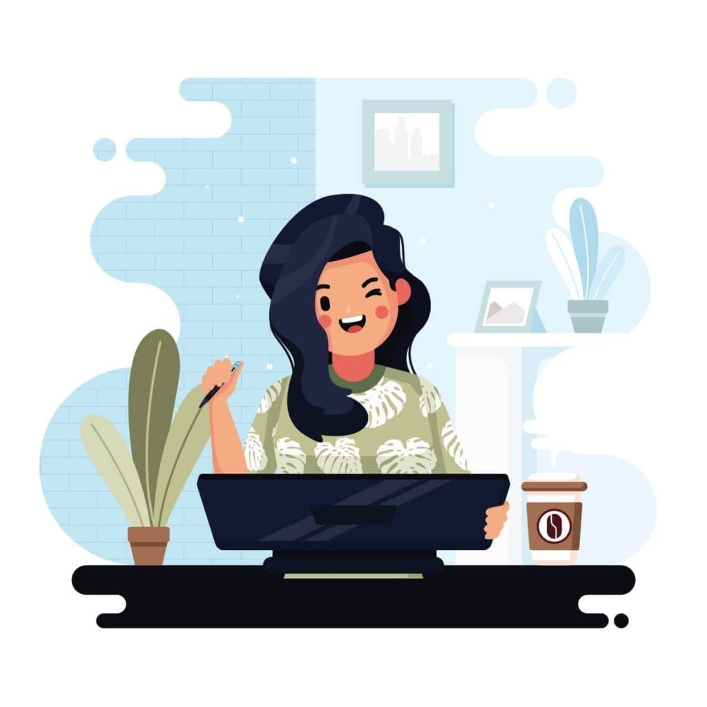 design girl cartoon