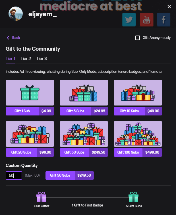 random twitch gift subs