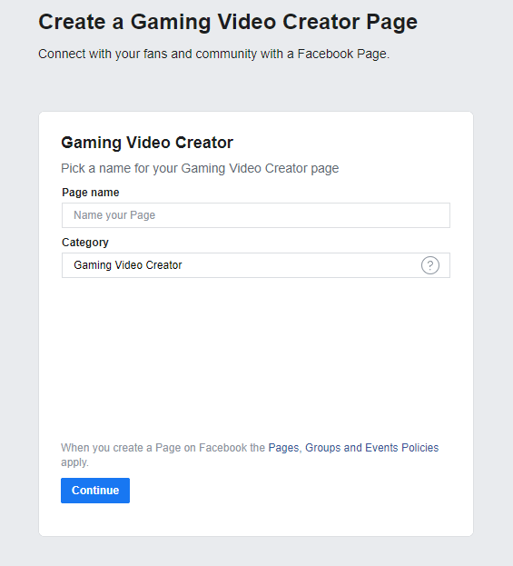 facebook gaming stream set up