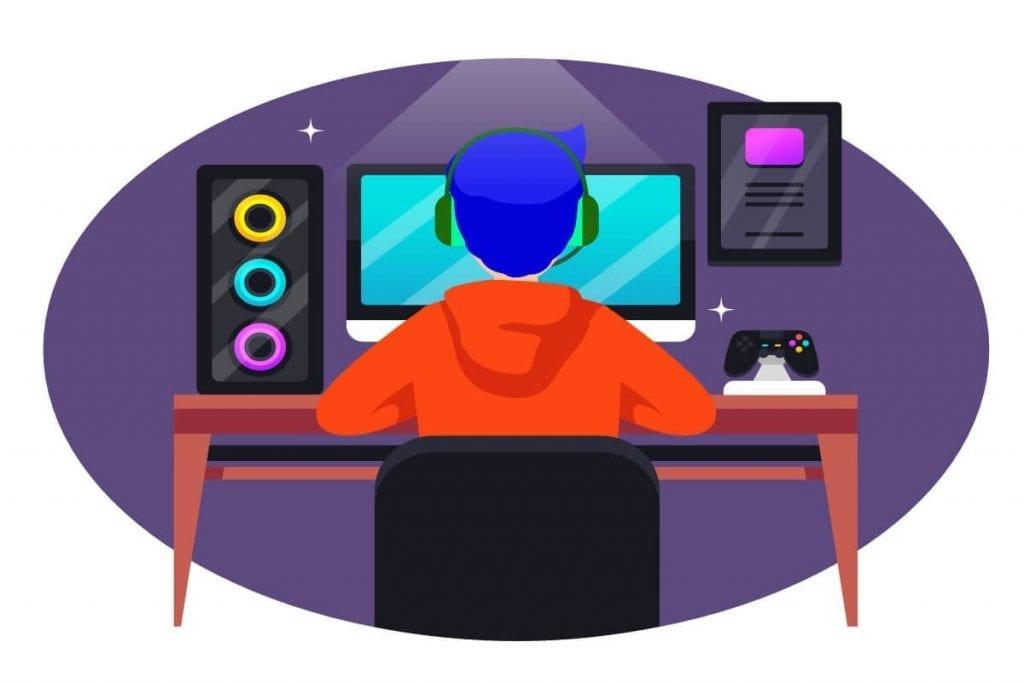 dude at desk streamer