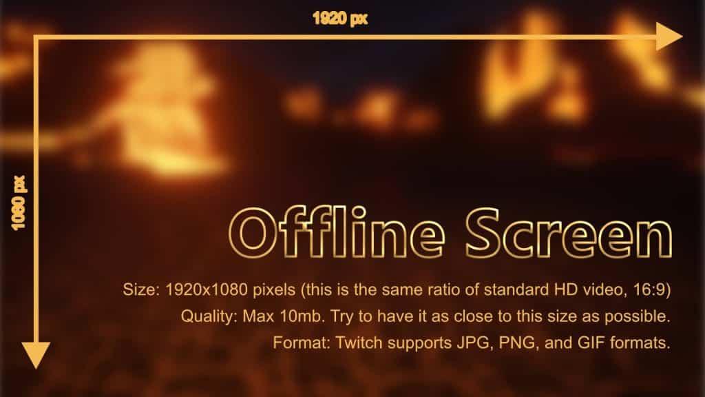 Twitch Offline screen sizes