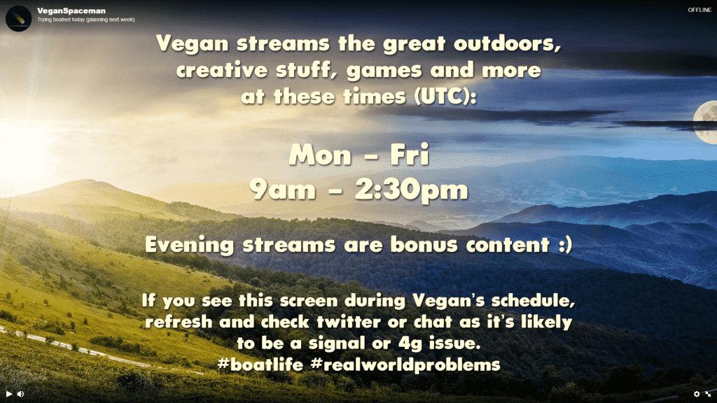 VeganSpaceman Offline Screen