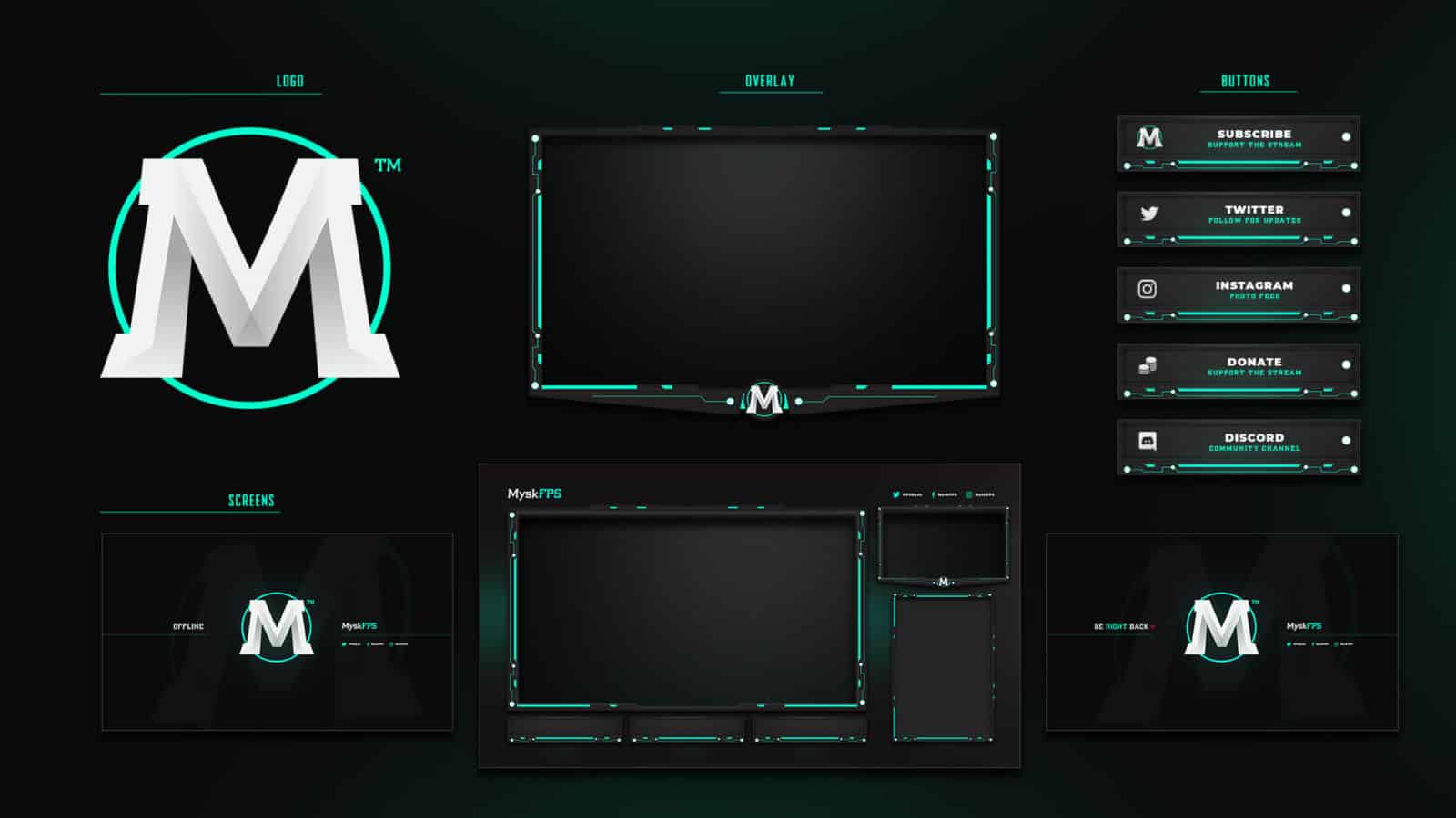 Twitch graphic pack example