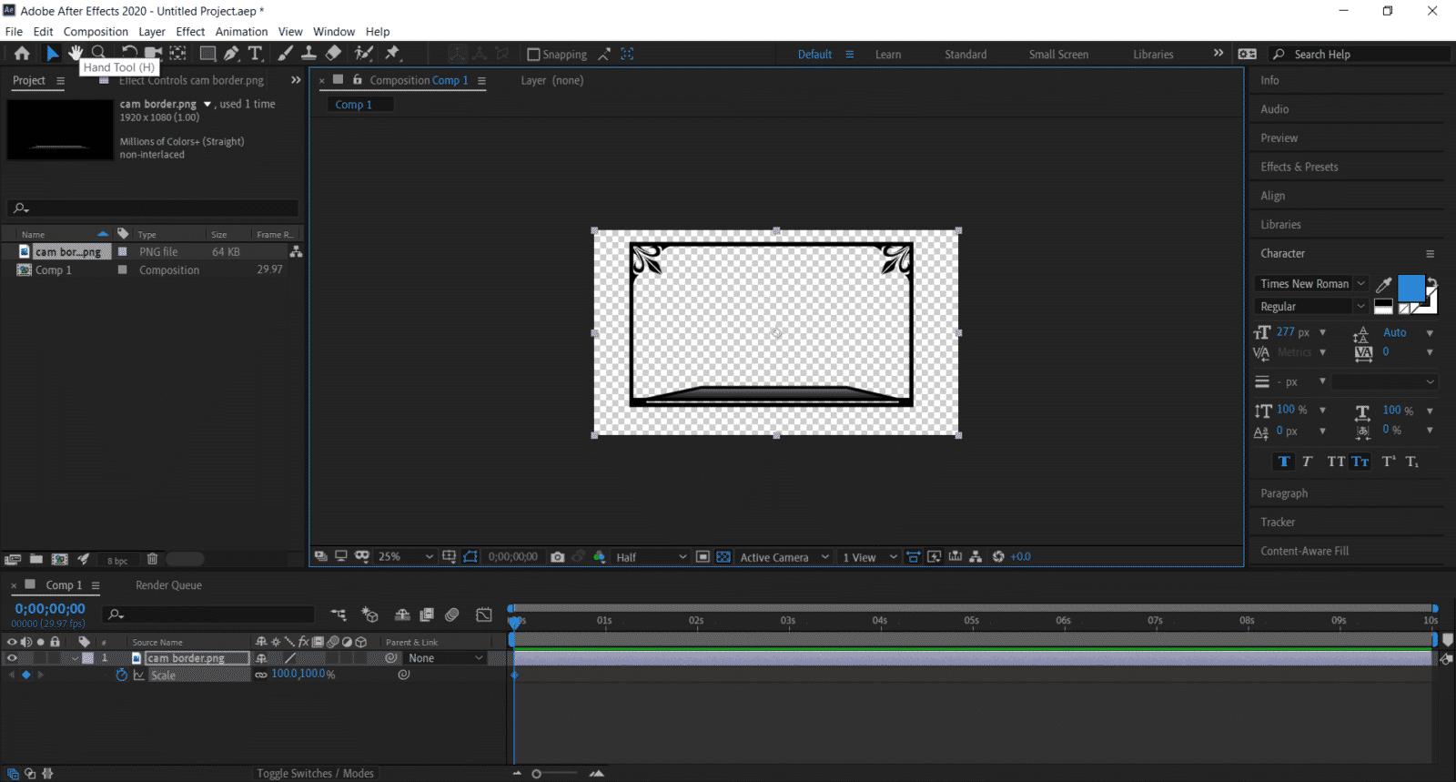 animated overlay hand tool black background