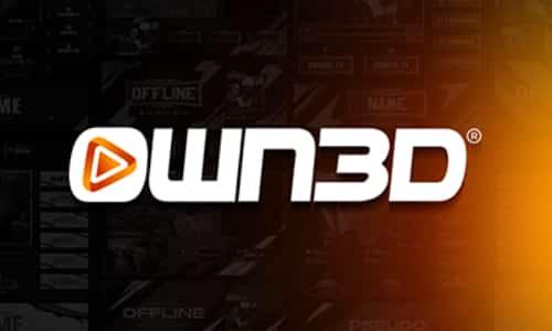 own3d logo on gradual background
