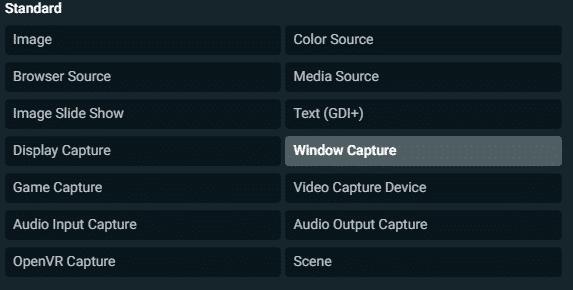 streamlabs obs standard window capture