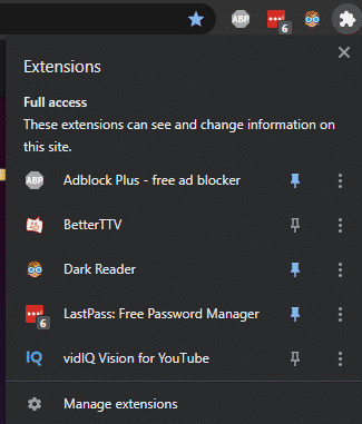 twitch manage extensions