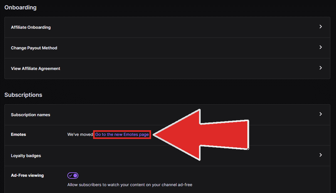 twitch subscriptions new emotes page