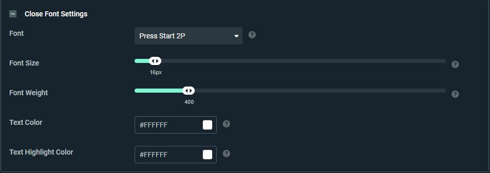 streamlabs Font settings