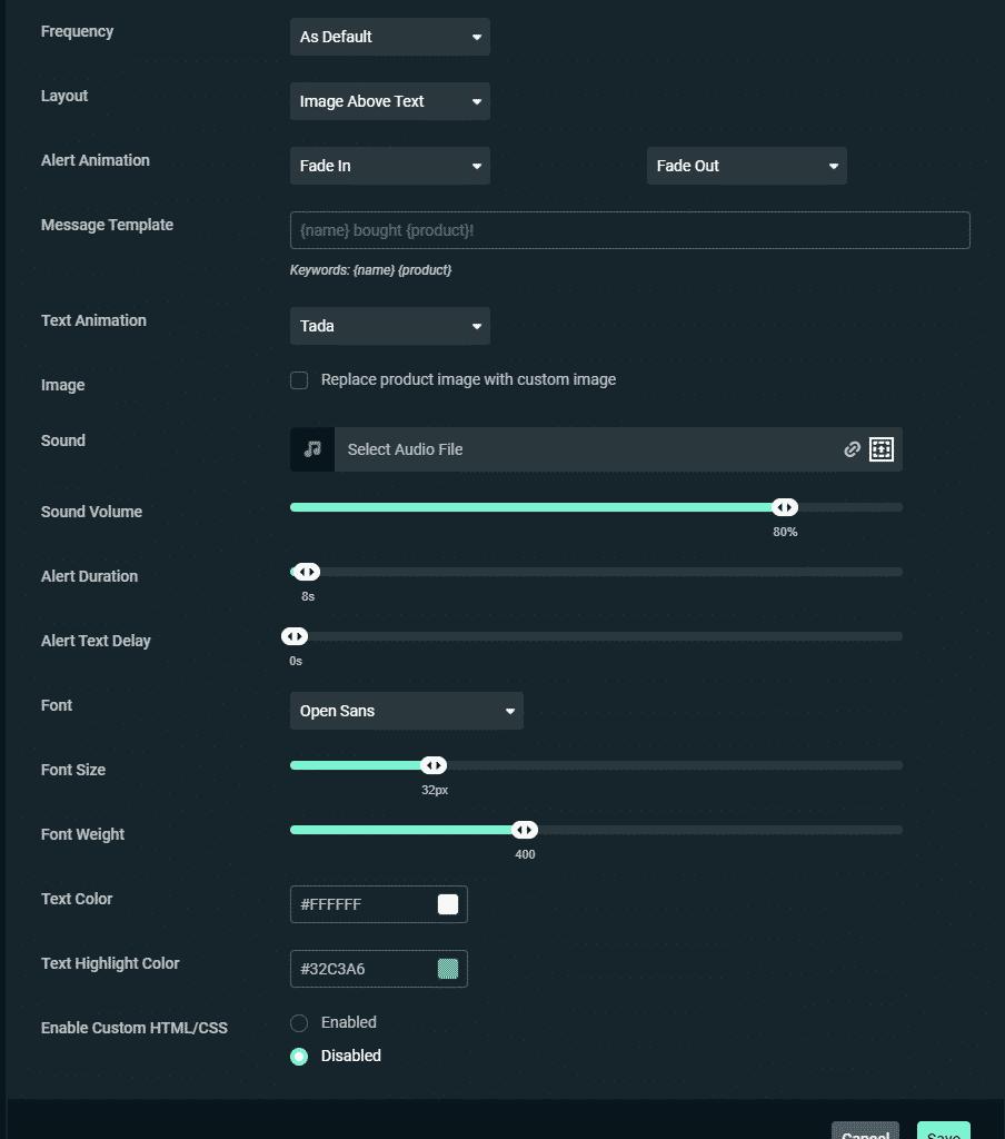 streamlabs Variation settings 2