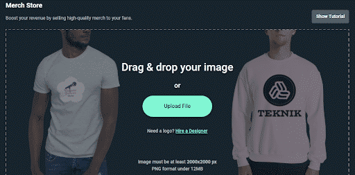 streamlabs merch store drag and drop