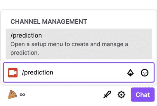 twitch channel management prediction