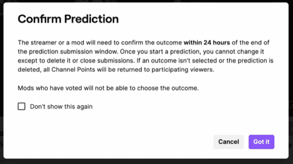 twitch confirm prediction