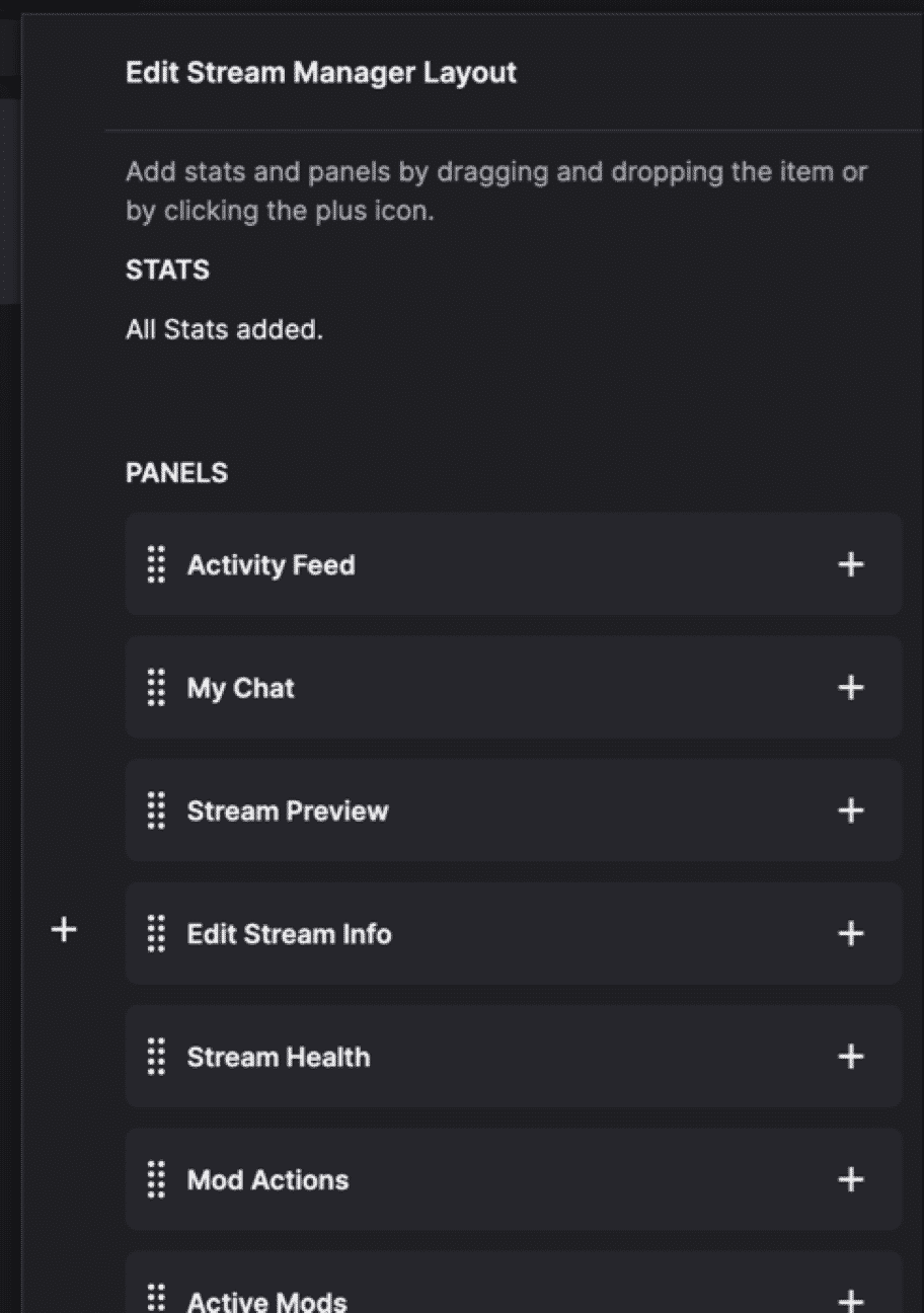 twitch edit stream manager layout