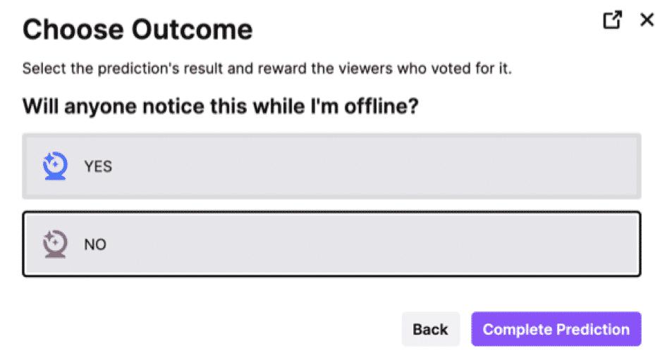 twitch prediction choose outcome