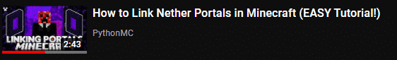 how to link nether portals title