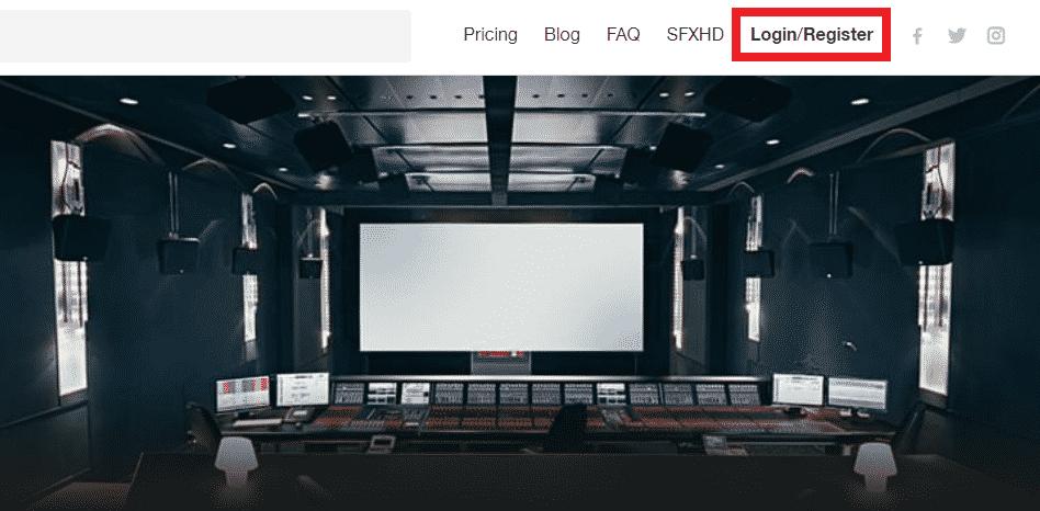 soundsnap website top bar register