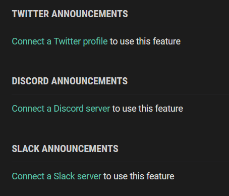 twitter announcements